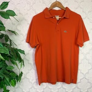 Lacoste Orange Polo Shirt